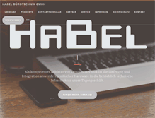 Tablet Preview of habel-mg.de